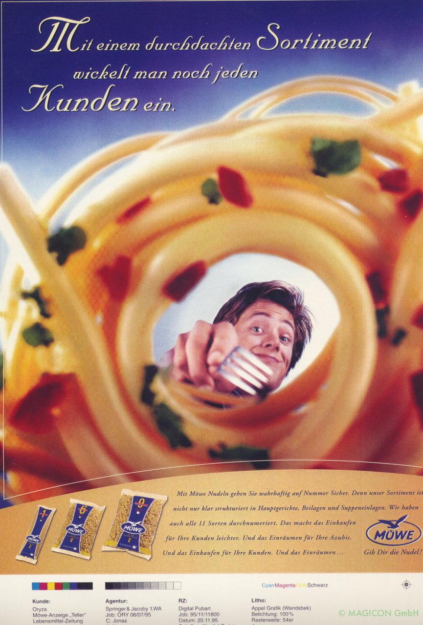 Möwe Nudeln Spagetti